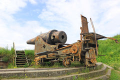 Old cannon in the sea fortress of Suomenlinna Stock Photography