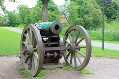 Old cannon in the sea fortress of Suomenlinna Stock Images