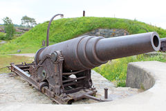 Old cannon in the sea fortress of Suomenlinna. In Helsinki Stock Photo