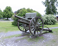 Old cannon in the sea fortress of Suomenlinna Stock Image