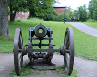 Old cannon in the sea fortress of Suomenlinna Stock Photo