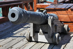 Old cannon on the ship Royalty Free Stock Photo