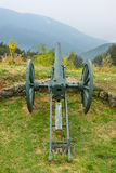 The old cannon on the SHIPKA redoubt Royalty Free Stock Photos