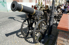 Old cannon in Sibiu Royalty Free Stock Images