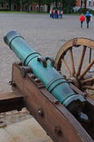 Old cannon on the square of Naryshkin bastion royalty free stock images