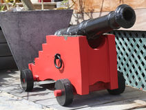 Old cannon at St. Barths, French West indies Stock Image