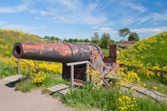 Old cannon in Suomenlinna Stock Images
