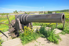 Old Cannon in Suomenlinna, Helsinki, Finland. Stock Photos