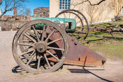 Old cannon. Suomenlinna island, Finland Stock Photography