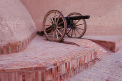 Old cannon at Taourirt kasbah in Ouarzazate, Morocco Stock Photo