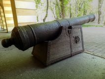 Old cannon. Used to defend the city from the Turks Stock Photography
