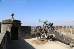 Old cannon. The Veste in Coburg, Germany. fragments. Coburg Fortress. The Veste in Coburg, Germany stock images