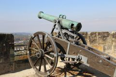 Old cannon. The Veste in Coburg, Germany. fragments. Coburg Fortress. The Veste in Coburg, Germany stock photo