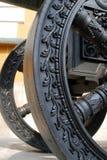 Old cannon wheel. Moscow Kremlin. UNESCO World Heritage Site. Stock Photo