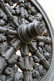 Old cannon wheel. Moscow Kremlin. UNESCO World Heritage Site. Stock Photography