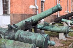Old cannons stock photo