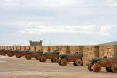 Old Cannons in Essaouria, Morocco Royalty Free Stock Photos