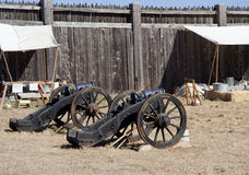 Old cannons in Fort Ross. Two old cannons in Fort Ross, CA, USA Royalty Free Stock Photography