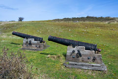 Old cannons on Hano island Stock Photo