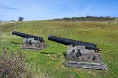 Old cannons on Hano island Stock Photo