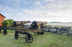 Old cannons Karlskrona Stock Photo