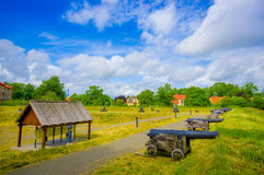 Old cannons in Kristianstad, Sweden Royalty Free Stock Photos