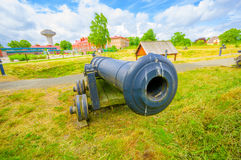 Old cannons in Kristianstad, Sweden Stock Photo