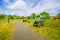 Old cannons in Kristianstad, Sweden Stock Photography