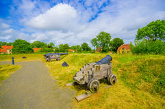 Old cannons in Kristianstad, Sweden Royalty Free Stock Images