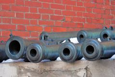 Old cannons in Moscow Kremlin. UNESCO Heritage Site. Stock Images
