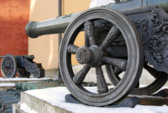 Old cannons in Moscow Kremlin. UNESCO Heritage Site. Stock Photography