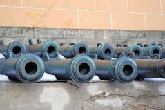 Old cannons in Moscow Kremlin. UNESCO Heritage Site. Royalty Free Stock Photo