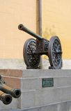 Old cannons in Moscow Kremlin. UNESCO Heritage Site. Royalty Free Stock Photos