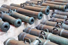 Old cannons in Moscow Kremlin. UNESCO Heritage Site. Royalty Free Stock Photography