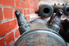 Old cannons in Moscow Kremlin. UNESCO Heritage Site. Royalty Free Stock Image