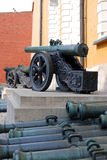 Old cannons. Moscow Kremlin. UNESCO World Heritage Royalty Free Stock Photos