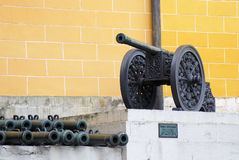 Old cannons in Moscow Kremlin Royalty Free Stock Photo