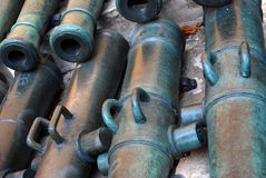Old cannons. Moscow Kremlin. UNESCO World Heritage Site. Royalty Free Stock Photos
