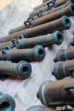 Old cannons in Moscow Kremlin. UNESCO World Heritage Site. Stock Photography