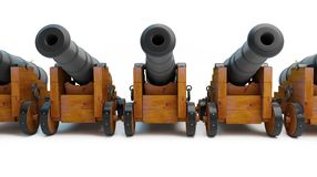 Old cannons row Royalty Free Stock Photos