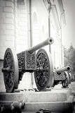 Old cannons shown in Moscow Kremlin. Royalty Free Stock Photos