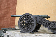Old cannons shown in Moscow Kremlin. Stock Image