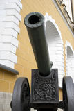 Old cannons shown in Moscow Kremlin. Royalty Free Stock Photography