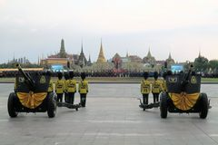 Old cannons for Thai King's birthday, a major Royalty Free Stock Photos