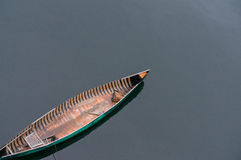 Lonely canoe Royalty Free Stock Photos