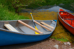 Old canoes Stock Photo