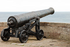 Old Canon on Battlements Royalty Free Stock Images