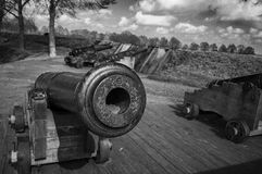 Old Canon. In Bourtange, the Netherlands stock images