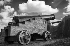 Old Canon. In Bourtange, the Netherlands royalty free stock photography