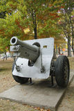 Old canon. This is M1918 155mm Howitzer was used i Royalty Free Stock Image